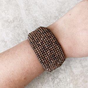 Chan Luu Rose Gold Cuff Bracelet